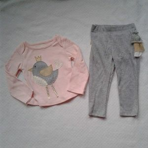 Mud Pie Girls Two Piece Outfit 6-9m Pink